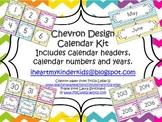 Chevron Calendar Kit with Calendar Headers, Calendar Numbe