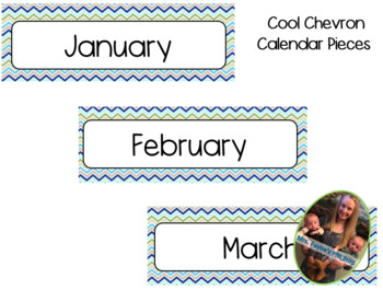 Chevron Calendar Pieces