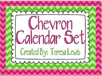 Calendar Set - Chevron Multi