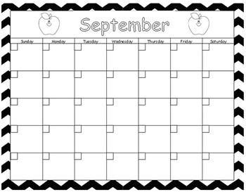 Chevron Calendar Template