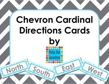 Chevron Cardinal Direction Cards