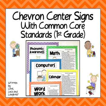 Chevron Center Signs with the Common Core State Standards