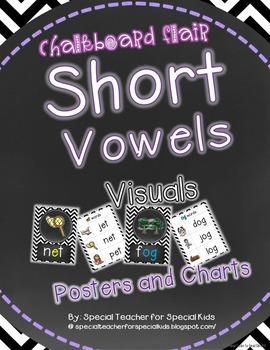 Chevron & Chalkboard *Vowel Visuals (SHORT VOWELS) Posters