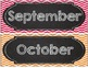 Chevron Chic Desk tags, Month and Days of the Week