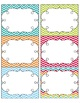 Chevron Chic Editable White Labels