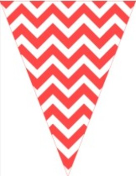 Classroom Decor and Organization Set Chevron Chic-Red