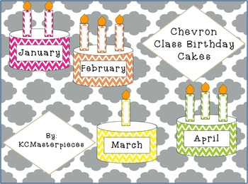 Chevron Class Birthday Cakes