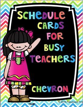 Chevron Class Schedule Cards