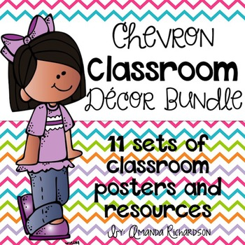 Chevron Classroom Decor BUNDLE