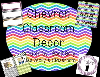 Chevron Classroom Decoration Bundle