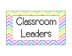 Neon Bright Chevron Classroom Job/Leader Labels