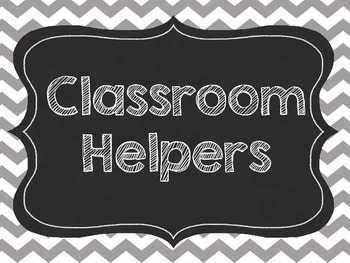 Chevron Classroom Jobs/Helper Cards