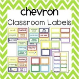 Chevron Classroom Labels (with and w/o pictures) - 3 edita