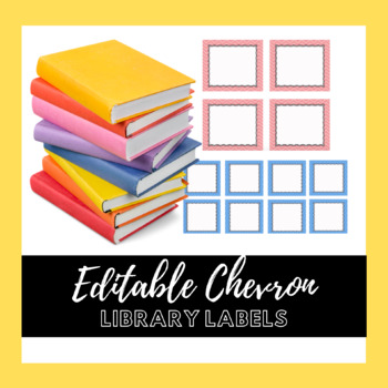 Chevron Classroom Library Labels (Editable)