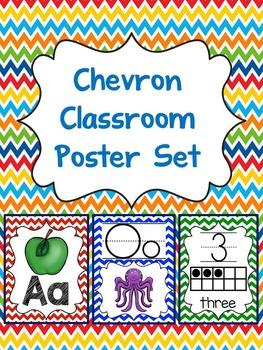 Chevron Classroom Posters