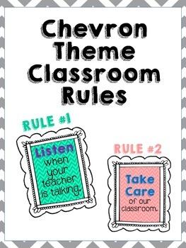 Chevron Classroom Rules