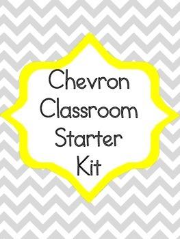Chevron Classroom Starter Kit Alphabet Numbers Rules Behav