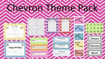 Chevron Classroom Theme Materials for All Grades and Teachers