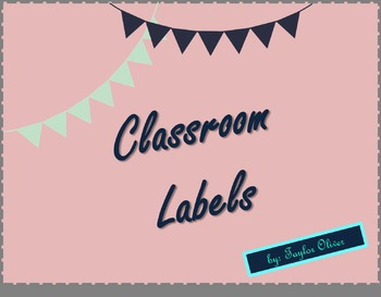 Chevron Classsroom Lables, Table Signs, and Name Plates