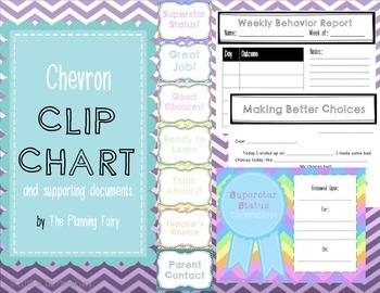 Chevron Clip Chart Bundle