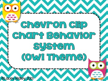 Chevron Clip Chart Behavior System {Owl Theme}
