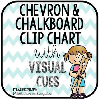 Clip Chart with Visual Cues - Chalkboard and Chevron