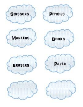 Chevron Cloud Labels