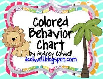 Chevron Color Behavior Chart - Jungle Animals