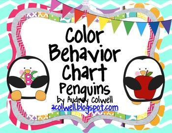Chevron Color Behavior Chart - Penguins