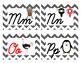 Chevron Cursive Word Wall Letters