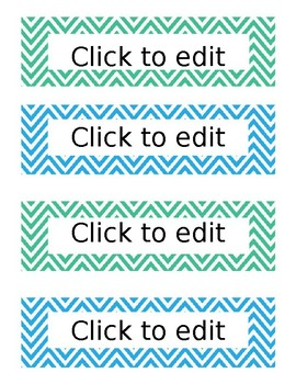 Chevron Days of Week Labels {EDITABLE}