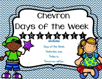 Chevron Days of the Week {Freebie}