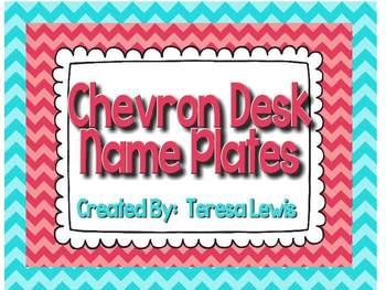 Chevron Desk Name Plates