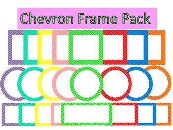 Chevron Digital Frames Pack - COMMERCIAL USE