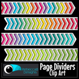 Clip Art Dividers: Chevron Page Dividers - For your Produc