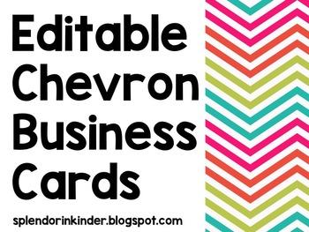Chevron Editable Business Cards