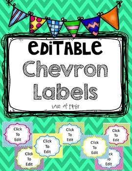 Chevron EDITABLE Labels