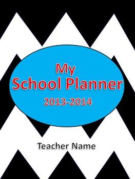 Chevron EditableTeacher Planner 2013-2014