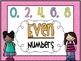 "Chevron ""Even & Odd Numbers"" mini posters sets"
