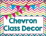 """Chevron Everything"" Room Decor (Editable Files Included)"