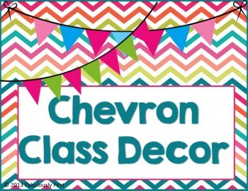 """""""Chevron Everything"""" Room Decor (Editable Files Included)"""