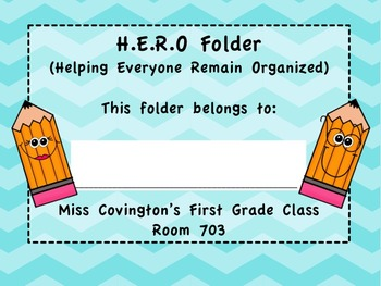 Chevron Folder Cover- Editable