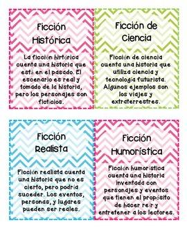 Chevron Genre Labels in Spanish