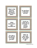 Chevron Get to Know You Cards- Quiz Quiz Trade