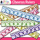 Chevron Ruler Clip Art {Back to School Supplies for Worksh
