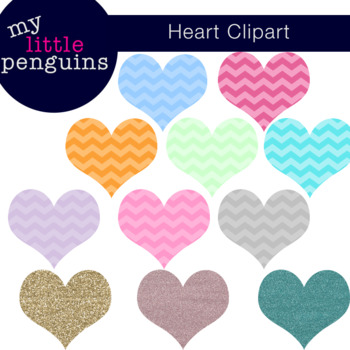 Chevron Heart Clipart