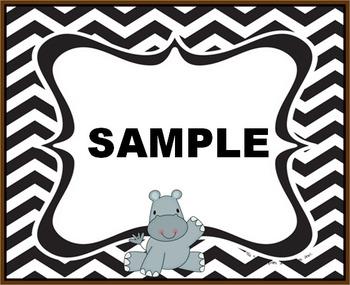 Chevron Hippo Labels