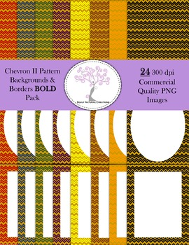 Chevron II Backgrounds and Borders BOLD Pack