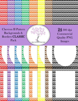Chevron II Backgrounds and Borders CLASSIC Pack