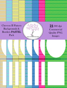 Chevron II Backgrounds and Borders PASTEL Pack